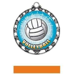 Volleyball HD Insert Medal M 4401 SILVER MEDAL / ORANGE