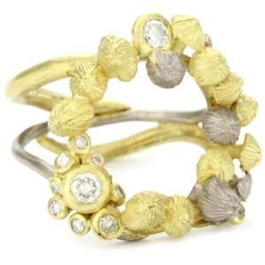 Vibes Whimsical 18 Karat White and Yellow Gold and Natural Light