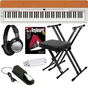 Yamaha P 155S Digital Piano ESSENTIALS BUNDLE w/ Stand