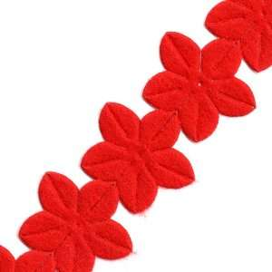 Venus Ribbon 14742 H 1 1/8 Inch Iron On Felt Floral Trim