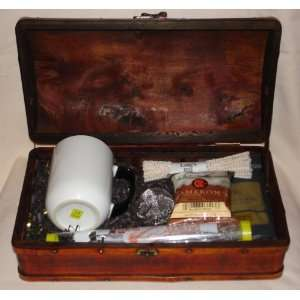 Java Wand Brewing Gift Set for Tea and Coffee in Wooden Chest   White