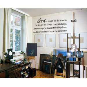 to Accept the Things I Cannot Changevinyl Decal Wall Sticker Mural