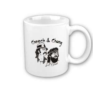 Cheech And Chong Stencil Art Coffee, Tea, Hot Coco Mug