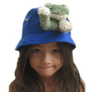 Sunhat   Frog on Cobalt Blue Baby