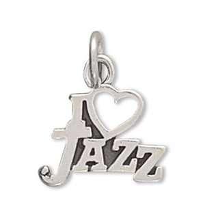 Sterling Silver I Love Jazz Charm West Coast Jewelry Jewelry