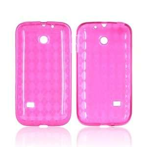 Argyle Hot Pink Crystal Silicone Case Cover For Huawei