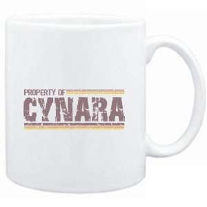 Mug White  Property of Cynara   Vintage  Female Names