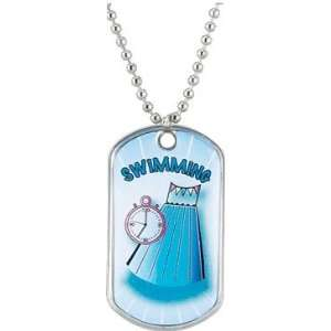 Swimming Dog Tags   Colorful Tags SWIMMING Everything