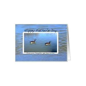 Happy Fathers Day from Your Daughter and Son in law Card