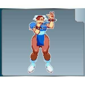 CHUN LI from Street Fighter PEACE Sprite vinyl decal