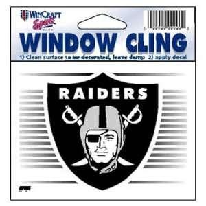 Oakland Raiders 3X3 Static Window Cling Decal Sticker
