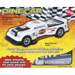 Pinecar   Baja Racer Premium Racer Kit (Pinewood Derby) Toys & Games