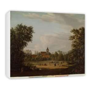 View of the village church, Pankow, 1835..   Canvas