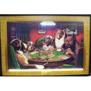 DOGS PLAYING POKER NEON/LED PICTURE: Home Improvement