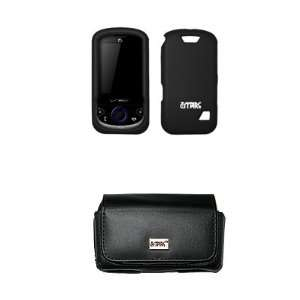 Belt Loops + Black Rubberized Snap On Cover Case for ZTE Salute F350