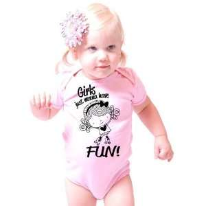 Girls Just Want To Have Fun American Apparel Onesie