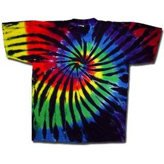 Tie Dye Mania Stained Glass Swirl Tie Dye Short Sleeve T Shirt