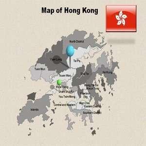 Hong Kong Powerpoint Map   Hong Kong Powerpoint Template