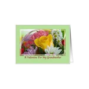 Grandmothers Valentine Card with Flowers and Heart Card