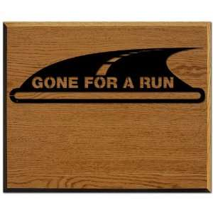 Race Medal Display Gone For A RUN Wood Mounted MedalART   Wall Medal