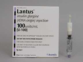 Picture LANTUS 100U/ML CARTRIDGE  Drug Information  Pharmacy