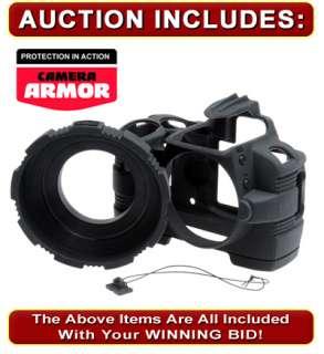 MADE Rubberized Nikon D3000 Black Camera Armor NEW USA