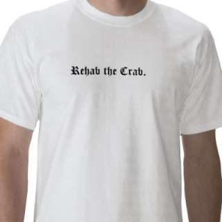 Crazy Crab Life back, Old English font front T Shirts  Zazzle.co.uk