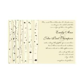 Ivory Birch Tree Wedding Invitations Customized Stationery from Zazzle