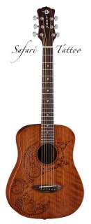 NEW LUNA MODEL SAF TATTOO POLYNESIAN STYLE 3/4 SIZE DREADNOUGHT