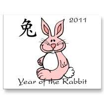 Chinese Year of the Rabbit 2011 Post Cards by henimage