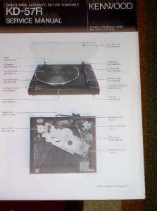 Kenwood Service/Repair Manual~KD 57R Turntable