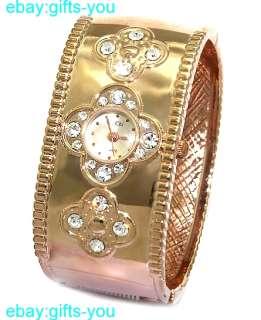 Rose Gold Tone Band Rose Gold Tone Watchcase Ladies Women Bangle Watch