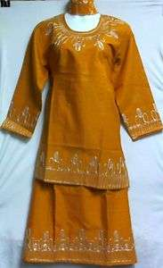 African Women Clothing Skirt Suit Gold Silver One Size NotCom M L XL
