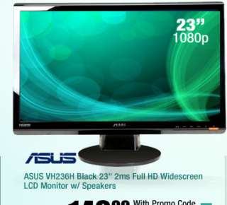 ASUS VH236H Black 23 inch 2ms Full HD Widescreen LCD Monitor w
