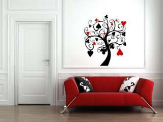 POKER TREE Wall Decal Art Stickers Decor ✿✿✿✿