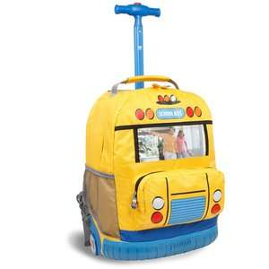 J World School Bus Rolling Backpack Bags