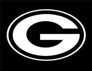Green Bay Packers Vinyl Window Sticker / Decal (white)