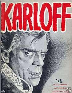BORIS KARLOFF Illustrated Biography 1969 Near Fine Book