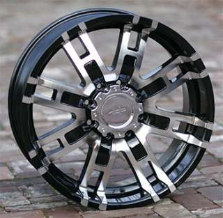 17 inch black HELO 835 Wheels rims FORD 8 Lug