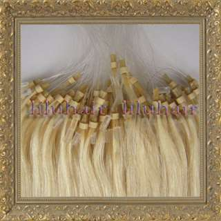 ring/loop human hair Extensions#613 light blonde 100s 0.5g/s