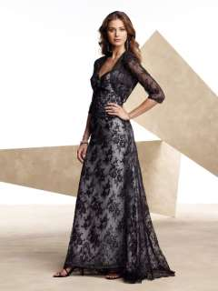 New Black Lace Wedding/Evening Dress Formal Gown