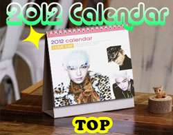 2011 PHOTO desk Calendar   SUPER JUNIOR LEE MINHO BIGBANG B2ST UKISS