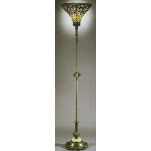 Bright Multi Colored Floor Lamp with Upward Shade