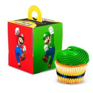 Lets Party By Super Mario Bros. Cupcake Boxes