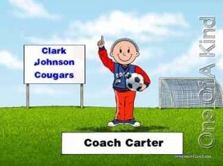 Custom Personalized Print T Shirt   Soccer Coach Ball
