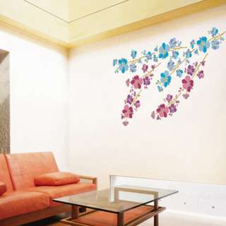 FLOWERING TREE Mural Art Wall Decor Removable Stickers