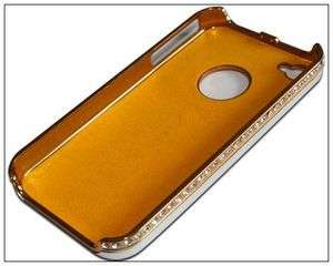Silver Luxury Bling Diamond Case Cover iPhone 4 4S front&back