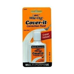 : Bic Whiteout Cover It Correction Fluid(Pack Of 6): Office Products