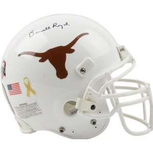 Darrell Royal exas Longhorns Auographed Game Used Helme