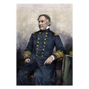 Admiral David Glasgow Farragut Premium Poster Print, 12x16